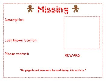Gingerbread Man is Missing Poster