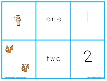 Gingerbread Man number, word and set match game