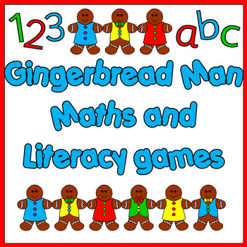 Gingerbread Man themed math and literacy centres- 8 games