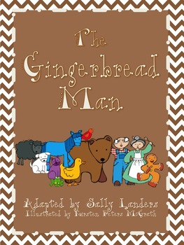 Gingerbread Man with Brown Bear and Friends Storybook by Sally Landers