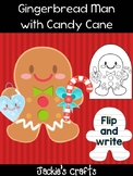 Gingerbread Man with Candy Cane and Heart - Jackie's Crafts, Winter Activity