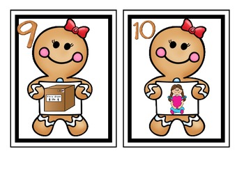 Gingerbread Man's CVC cookies