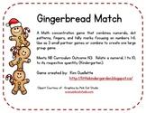 Gingerbread Match Math Game