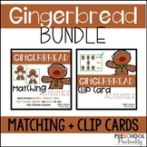 Gingerbread Match and Clip Card Bundle for Toddlers, Preschool, and PreK