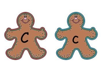 Gingerbread Matching A-Z