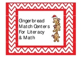 Gingerbread Matching Centers for Literacy and Math