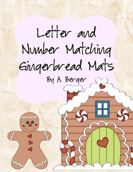 Gingerbread Matching Letter and Number Mats and Pieces