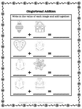Gingerbread Matching and Addition
