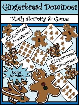 Gingerbread Activities: Gingerbread Men Christmas Dominoes Math Game Activity