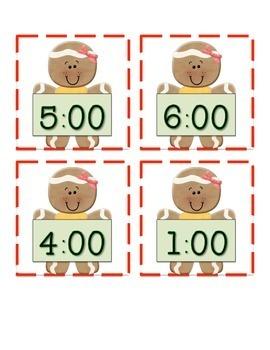 Gingerbread Math Centers