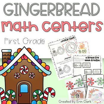 Gingerbread Math! 5 Gingerbread Themed Math Tub Centers {C