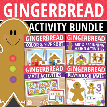 Gingerbread Bundle: Gingerbread Man Math and Literacy Activities