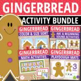 Gingerbread Activities Bundle | Gingerbread Man Math and L
