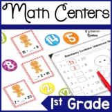 First Grade Common Core Gingerbread Math Centers