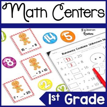 First Grade Gingerbread Math Centers