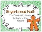 Gingerbread Math Centers - Common Core Aligned