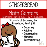 Gingerbread Math Centers: Counting and Numbers for Preschool, PreK & K