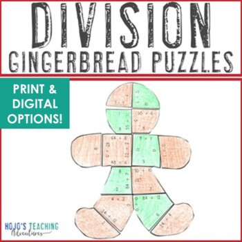 Gingerbread Man Activities   Gingerbread Math Centers: Division Puzzle Games