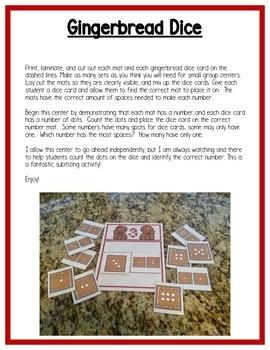 Gingerbread Math Centers: Number Sense for Preschool, PreK, & K