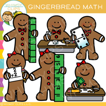 Gingerbread Math Clip Art