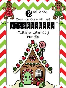 Gingerbread Math & ELA Common Core Worksheets 2nd Grade