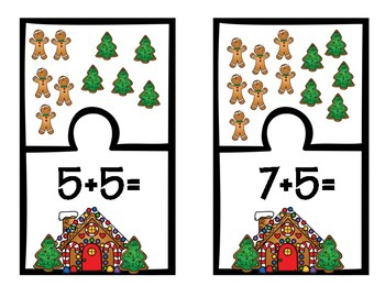 Gingerbread Math Fact Puzzles