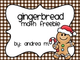 Gingerbread Math Freebie