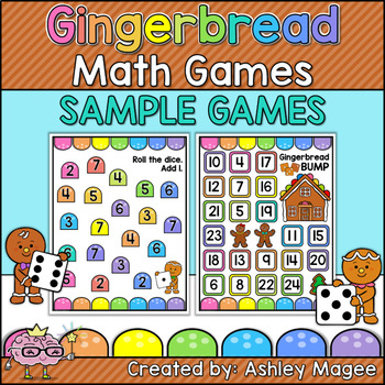 Gingerbread Math Games - Addition - 2 Free Sample Games!