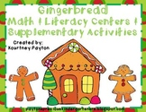 Gingerbread Math & Literacy Centers & Supplementary Activities