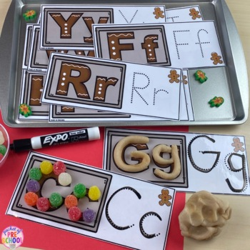 Gingerbread Math, Literacy, & MORE Centers for Preschool, Pre-K, & Kindergarten