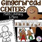 Gingerbread Math, Literacy, & MORE Centers for Preschool, Pre-K, & Kindergarten