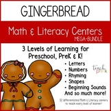Gingerbread Math & Literacy Mega-Bundle for Preschool, PreK, & K