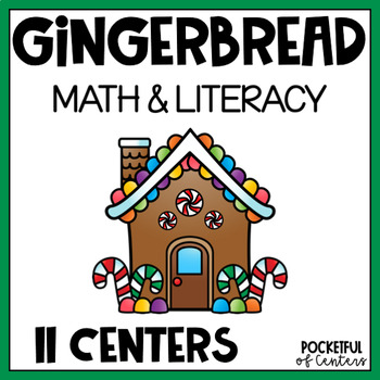 Gingerbread Math & Literacy Centers for Pre-K and Kindergarten