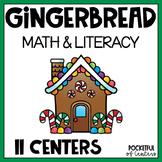 Gingerbread Centers: Math & Literacy Activities for Pre-K & Kindergarten BUNDLE