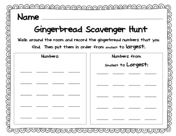 Gingerbread Math Pack