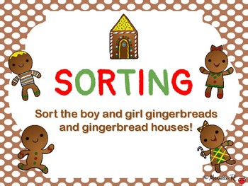 Gingerbread Math Pack: Sorting & Counting/Number Identification
