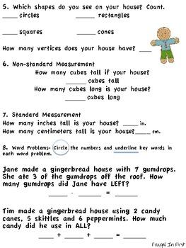 Gingerbread Math Packet