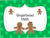 Gingerbread Math Printables