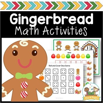 Gingerbread Math Printables for Pre-K