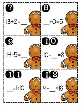 Gingerbread Math Scoot