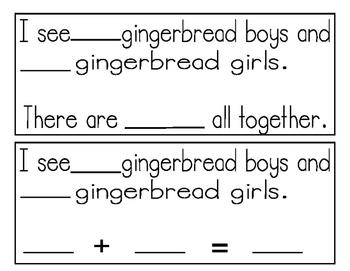 Gingerbread Math Stories
