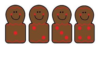 Gingerbread Math Subitizing Center