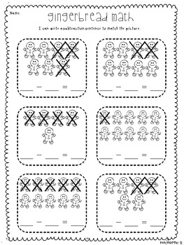 Gingerbread Math: Subtraction