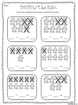 gingerbread math subtraction sentences by kelly mchaffie tpt. Black Bedroom Furniture Sets. Home Design Ideas