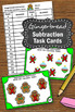 Christmas Math Centers Gingerbread Man Subtraction Facts Task Cards Kindergarten