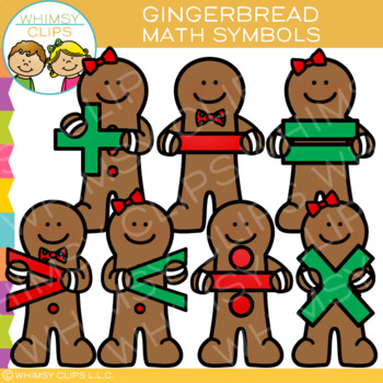 Math Symbols Gingerbread Clip Art