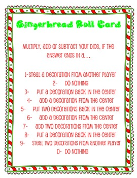 Gingerbread Math- a differentiated math fact game for all grades