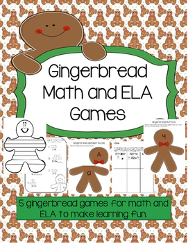 Gingerbread Math and ELA games for Christmas