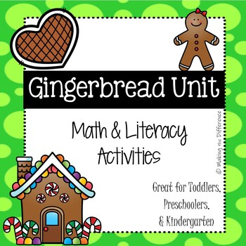 Gingerbread Math and Literacy Activities for Toddlers & Preschoolers