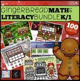 Gingerbread Man Activities Kindergarten 1st Grade Math and Literacy Boom Cards